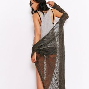 Staring At Stars Mesh Stitch Maxi Cardigan